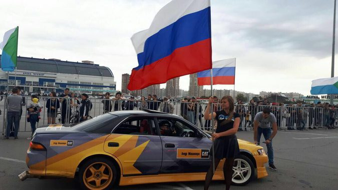 Хабаровский дрифт: пилоты чемпионата Drift Day выступили у арены «Ерофей»